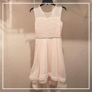 Girls pastel pink dress